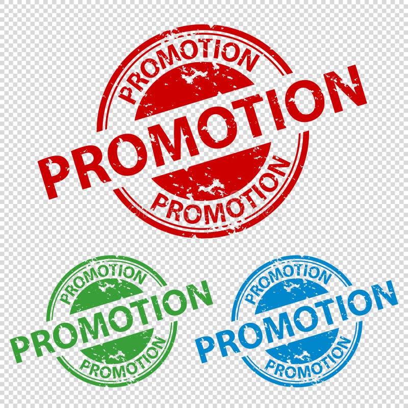 Promoção do selo do carimbo de borracha - ilustração do vetor - isolada no fundo transparente ilustração stock
