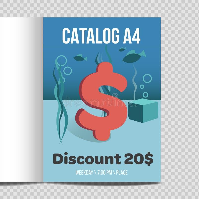 Promoção rápida da ilustração da folha do catálogo A4 do vetor ilustração stock