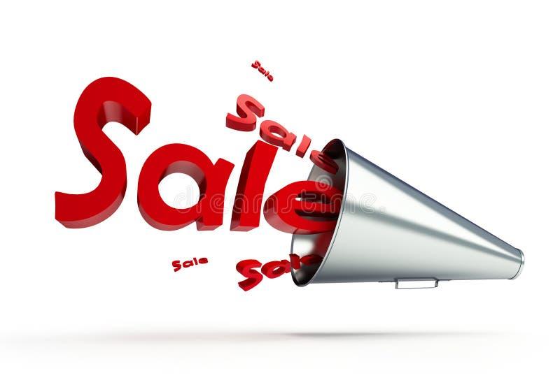 Promo do megafone ilustração stock
