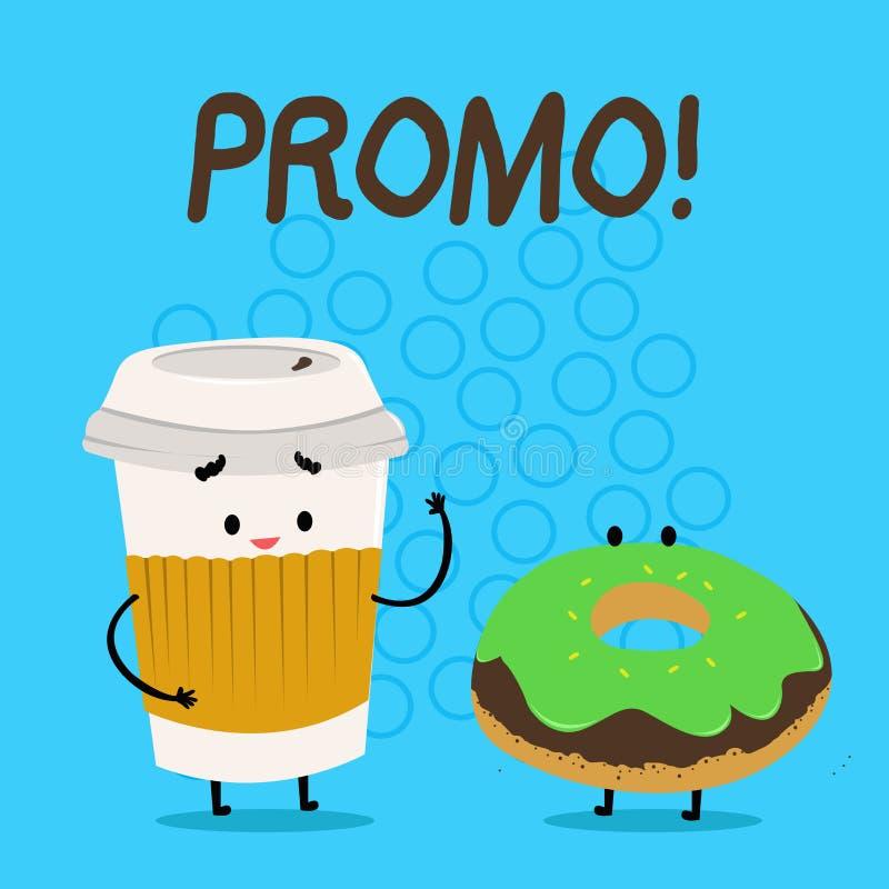 Promo do texto da escrita Parte do significado do conceito de anunciar a venda Carry Out Paper Cup da oferta especial do desconto ilustração royalty free