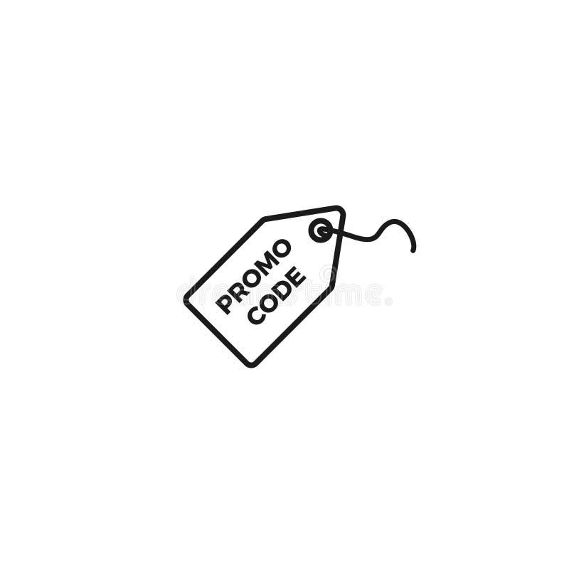Promo kodu ikona ilustracja wektor