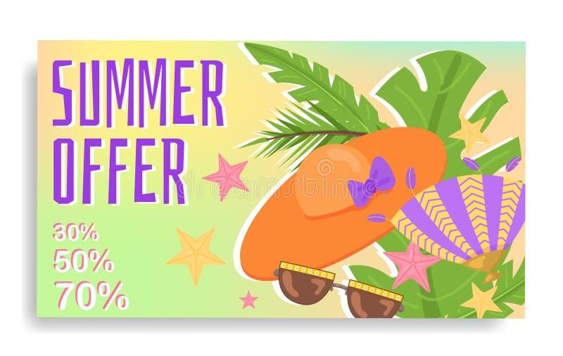 Promo-Netzfahne Sommer des Rabattes moderne stock abbildung