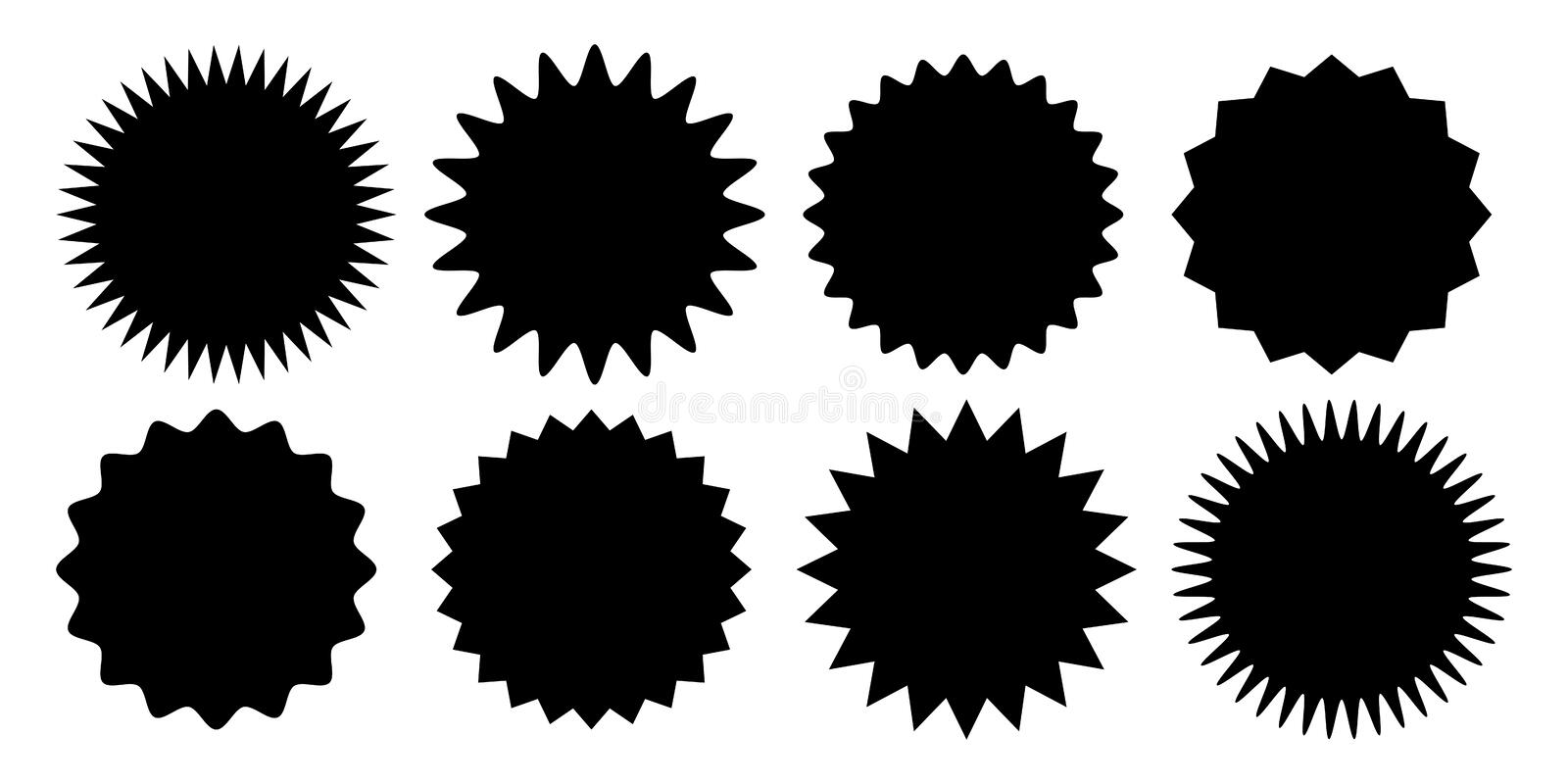 Promo sale sticker starburst sunburst vector icon stock illustration
