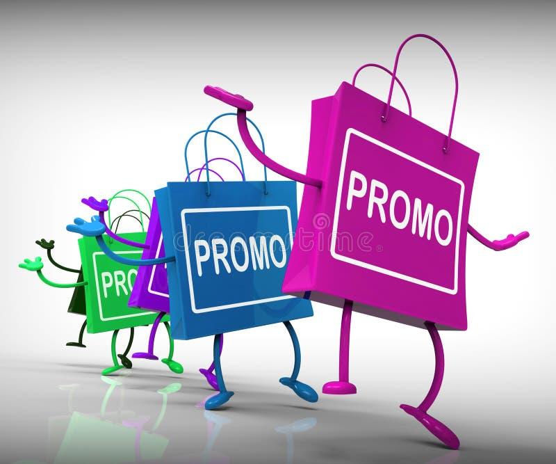 Promo-Taschen-Show-Rabatt-Reduzierung oder Verkauf vektor abbildung