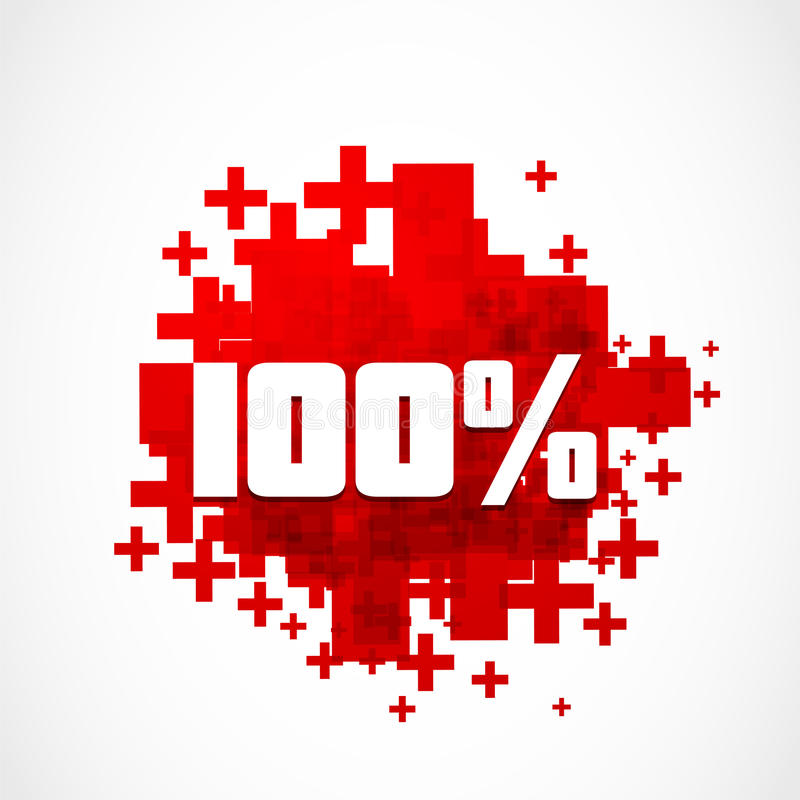 Promoción 100  Imágenes de archivo libres de regalías