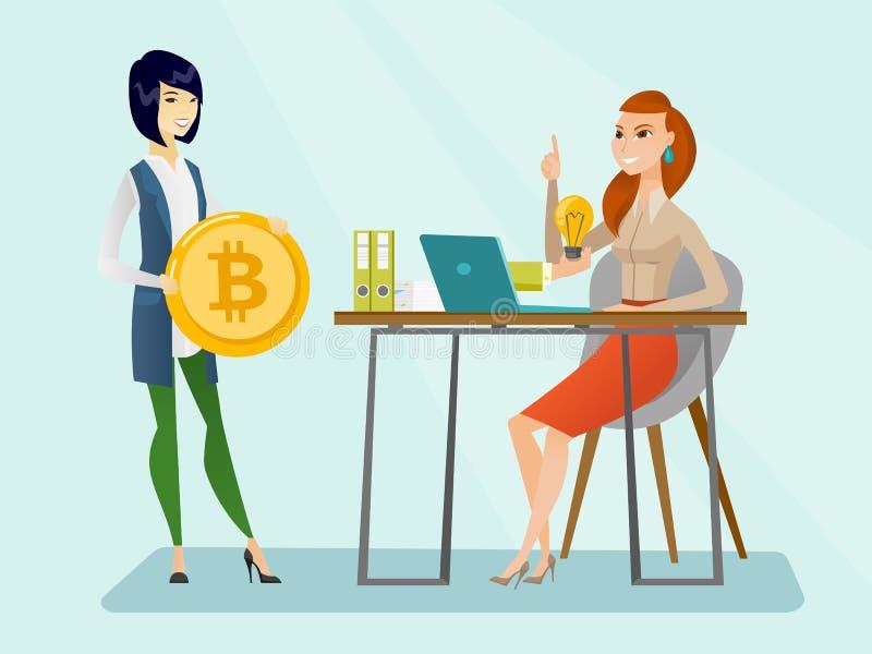 Promoción acertada del nuevo inicio del cryptocurrency libre illustration