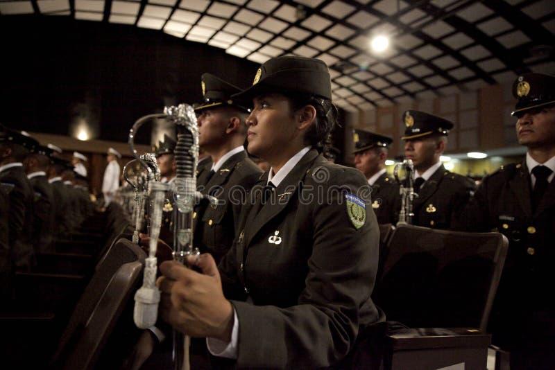 Promoción de Escuela Militar de Graduación de la LXXXVIII fotografía de archivo