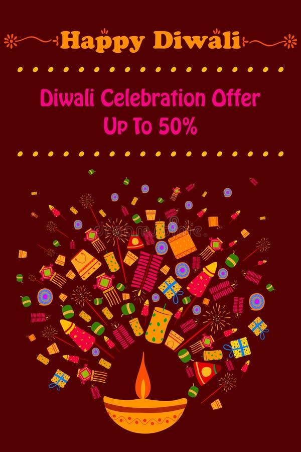 Promoción de venta feliz del descuento de Diwali libre illustration