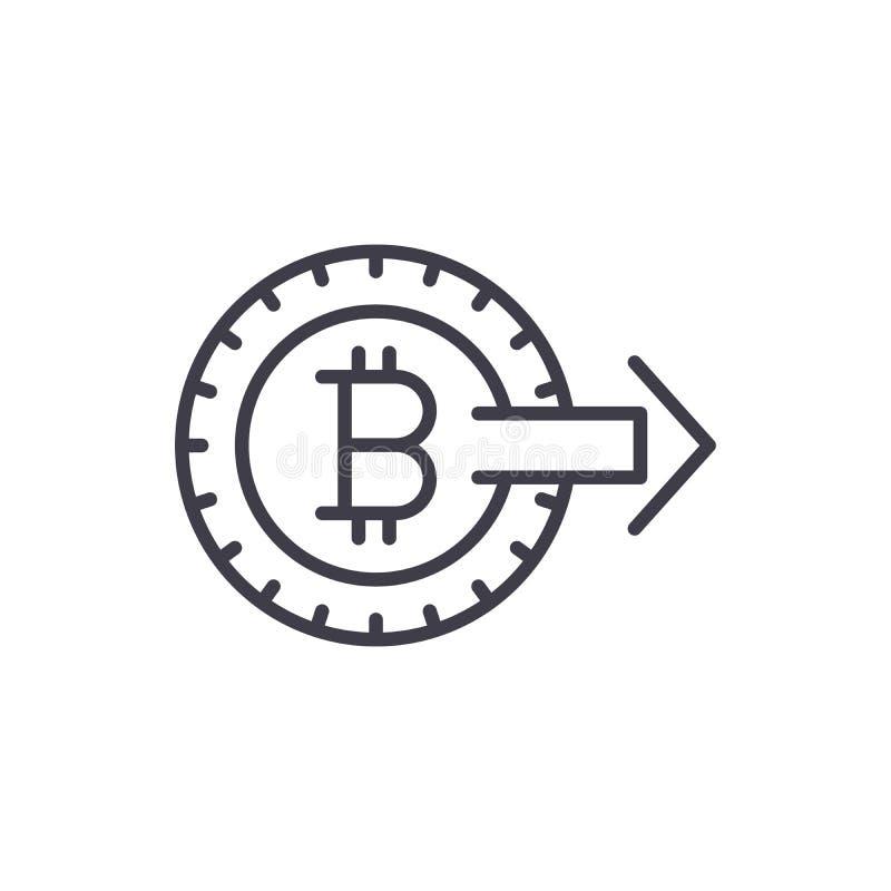 Promoción del concepto del icono del negro del bitcoin Promoción del símbolo plano del vector del bitcoin, muestra, ejemplo libre illustration