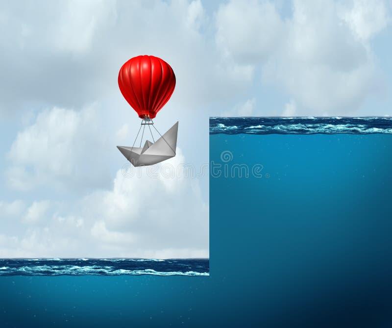 Promoción del negocio y el tener éxito a un de alto nivel ilustración del vector
