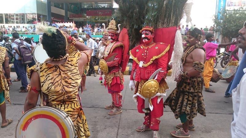 Promoción del utsava del karavali de Mangalore foto de archivo libre de regalías