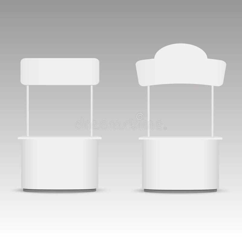 Promocja handlu stojak Bielu pusty stojak z signboard również zwrócić corel ilustracji wektora ilustracja wektor