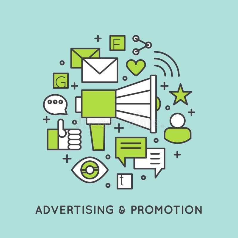 Promocja i reklama proces ilustracji