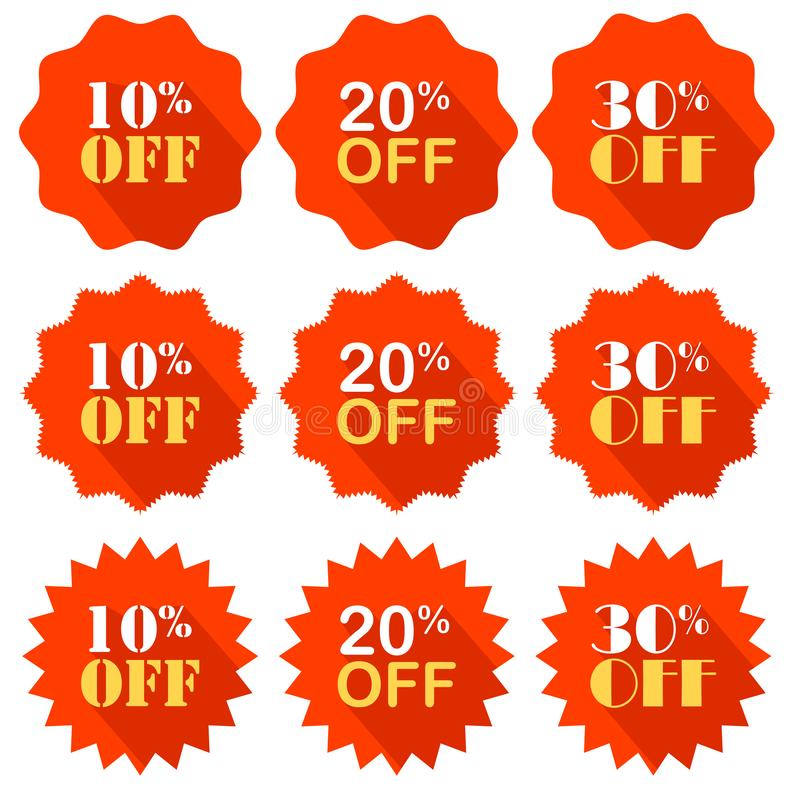Promocyjna oferta jest odsetka rabatem wektor emblemat target31_1_ royalty ilustracja