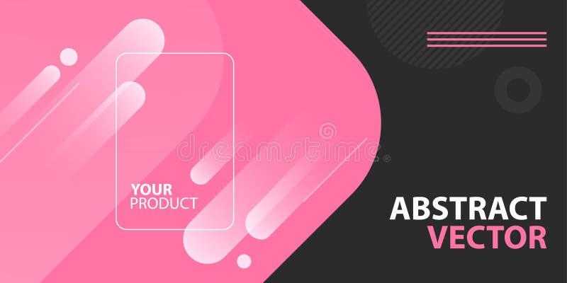 Promocyjny abstrakcjonistyczny tło dla online interneta sklepu, handlu elektronicznego, marketingu i produktu prezentacji, Reklam ilustracji
