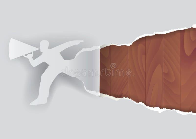 Download Promocyjny Mężczyzna Z Drewnianą Strukturą Ilustracja Wektor - Ilustracja złożonej z target31, naturalny: 57658910