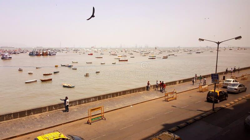 Promonade des Zugangs von Indien, Mumbai lizenzfreies stockfoto