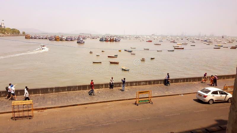 Promonade des Zugangs von Indien, Mumbai lizenzfreie stockfotos