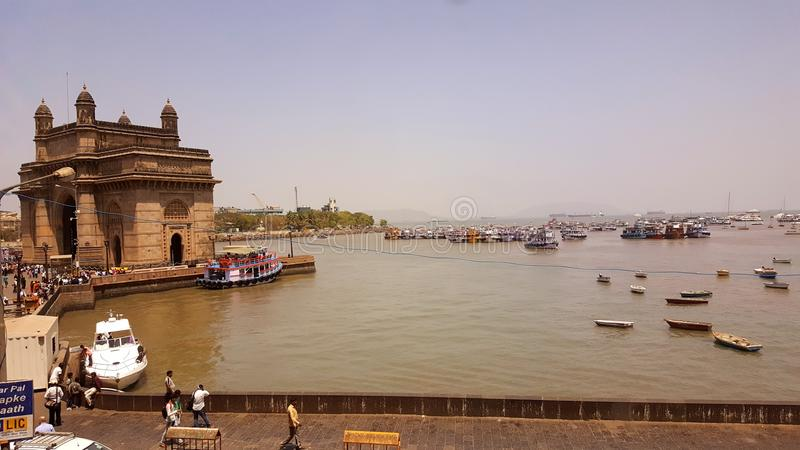 Promonade des Zugangs von Indien, Mumbai stockfotografie