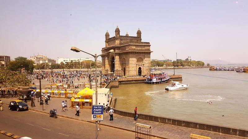 Promonade des Zugangs von Indien, Mumbai stockbild