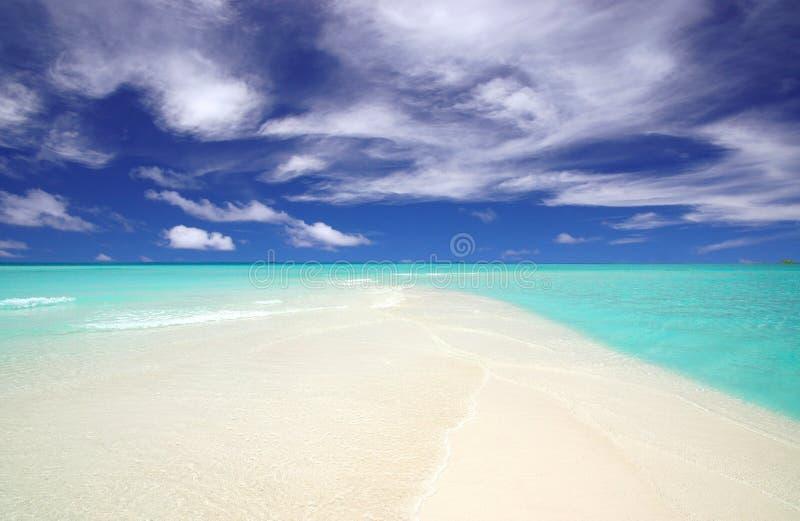 Promontório de uma praia tropical fotos de stock royalty free