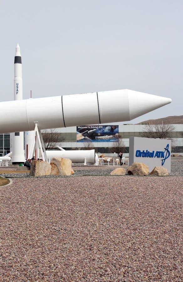 Promontório orbital Rocket Garden do ATK fotografia de stock royalty free