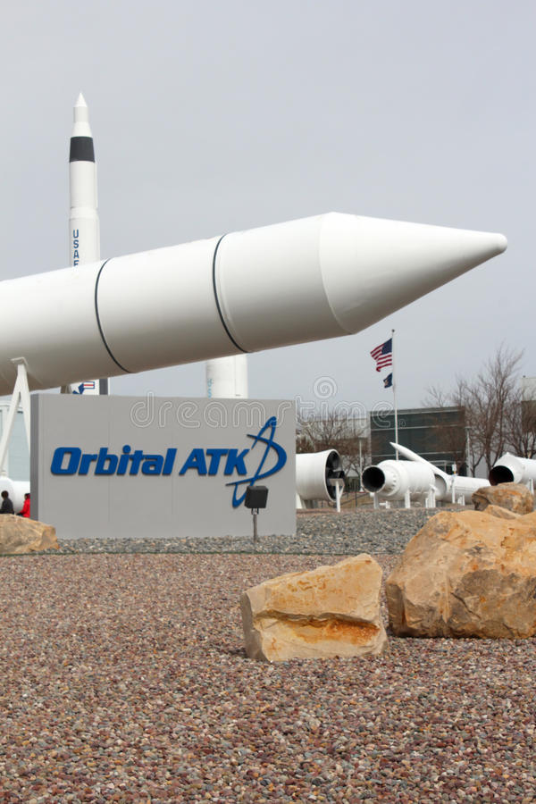 Promontório orbital Rocket Garden do ATK fotografia de stock