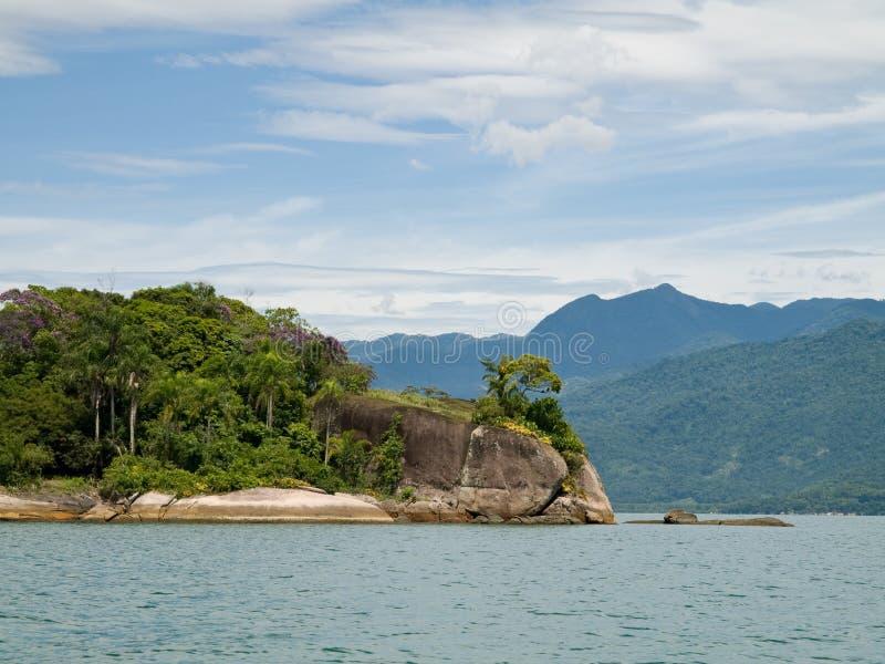 Promontório tropical, Brasil. imagens de stock royalty free