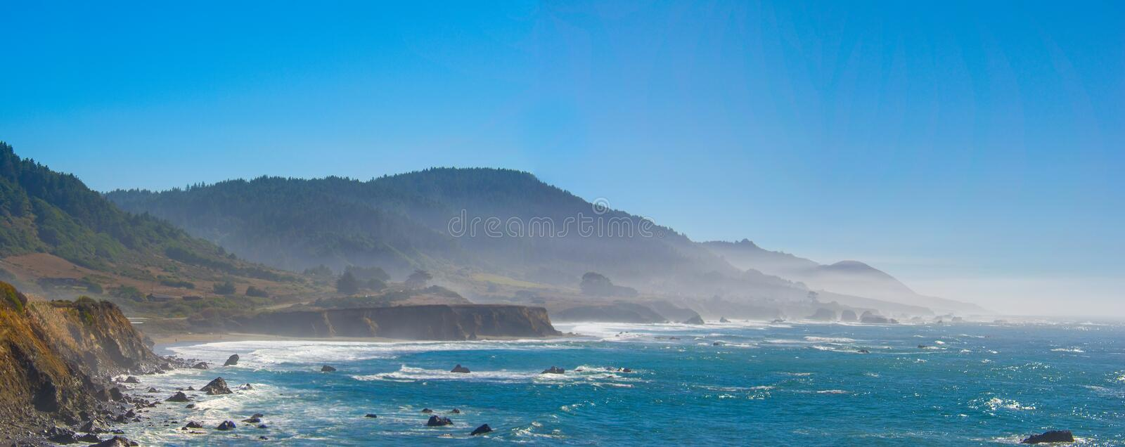 Promontoires la Californie du nord de Mendocino photo stock