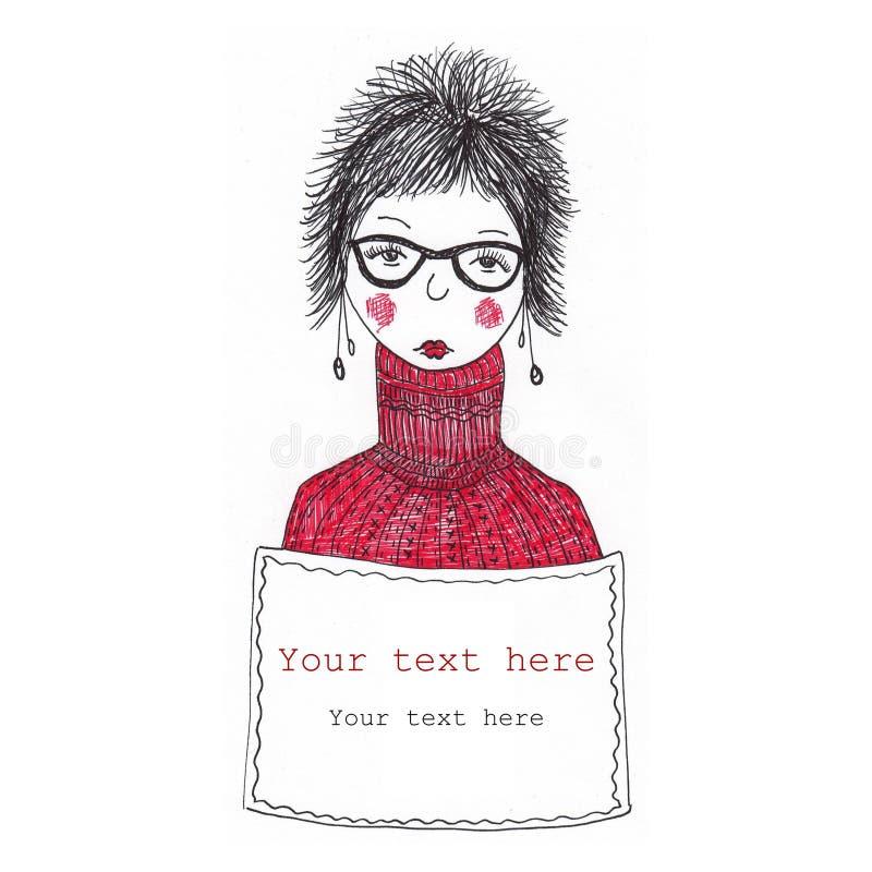 Download Promoter girl stock illustration. Illustration of advertising - 21868846