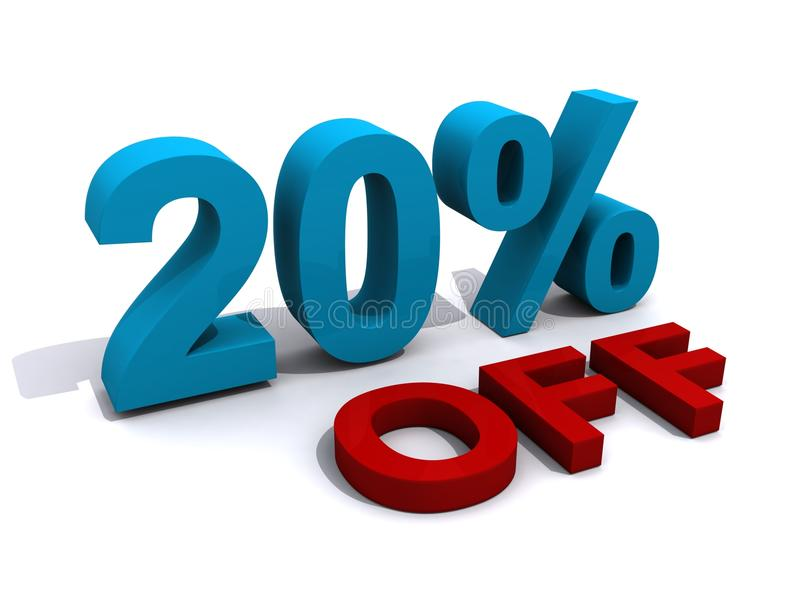 Promotion 20% off royalty free illustration