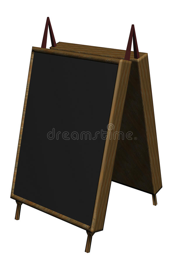 Promotion board on the street royalty free illustration