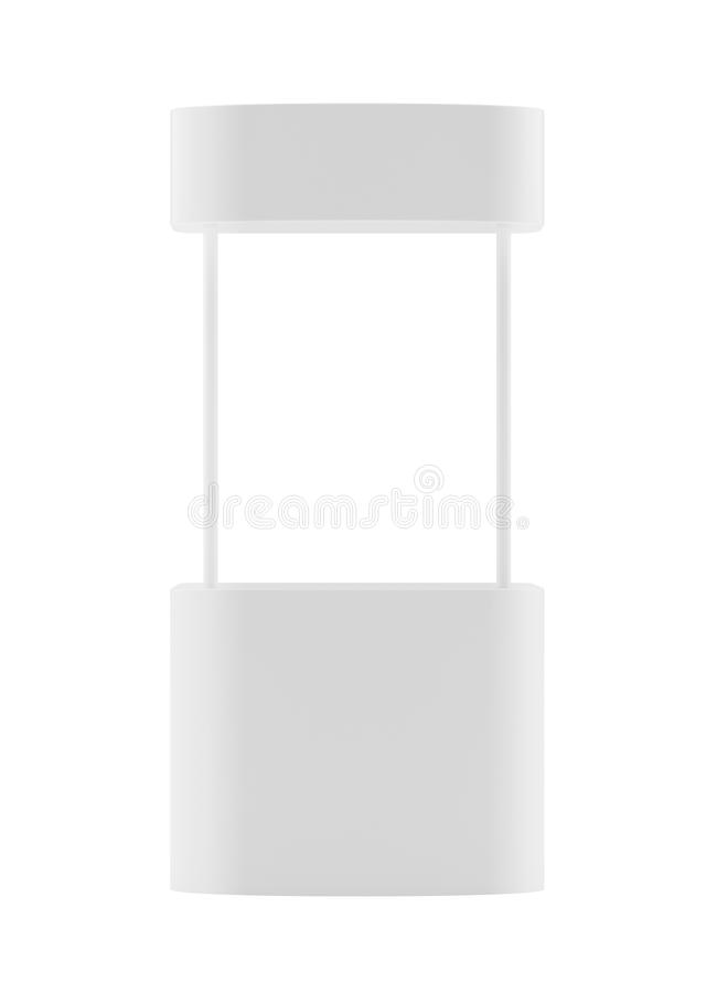Promotion counter, Retail Trade Stand Isolated on the white background. MockUp Template For Your Design. 3d rendering stock photos