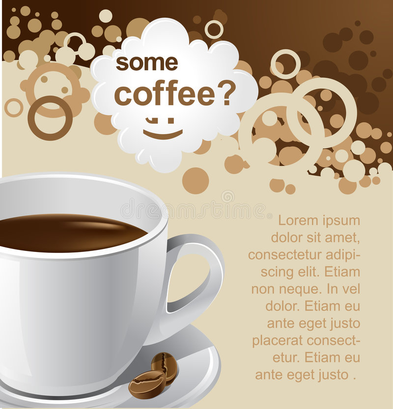 promotion de café illustration stock