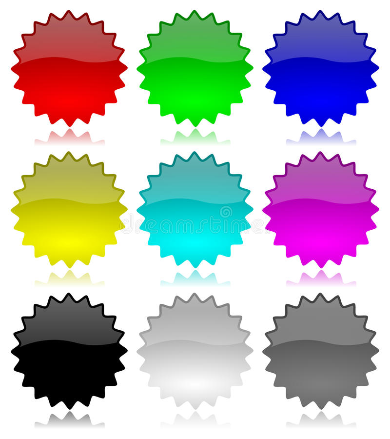 Download Promotion Empty Glossy Labels Set Stock Vector - Illustration of exclusive, button: 25073449