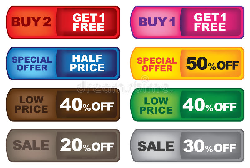 Download Promotion labels stock vector. Image of sticker, badge - 26407707