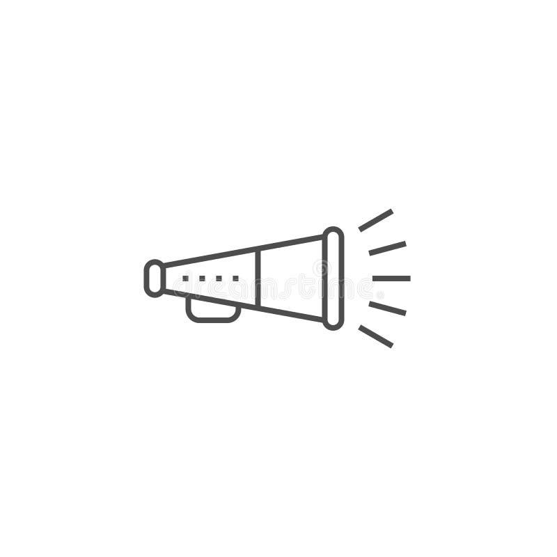 Promotion Line Icon royalty free illustration