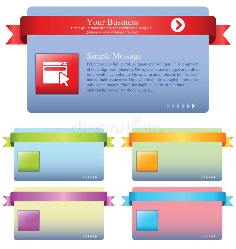 Promotion message tag royalty free illustration