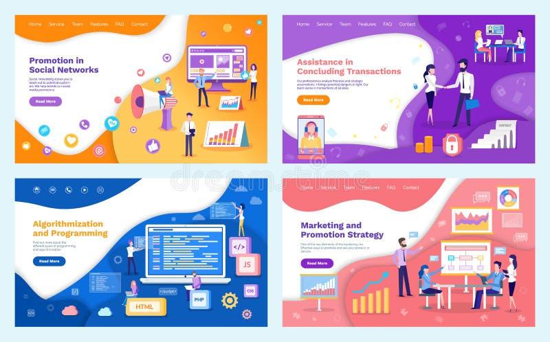 Promotion Networks, Algorithmization Programming stock illustration