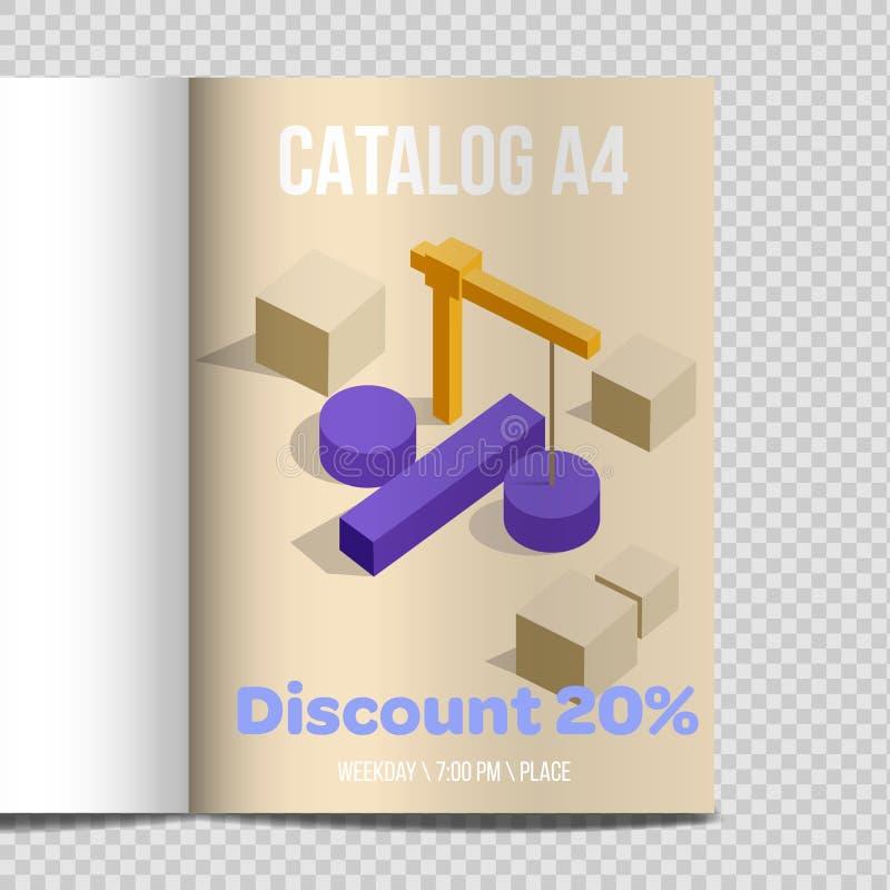Promotion rapide d'illustration de feuille du catalogue A4 de vecteur illustration libre de droits
