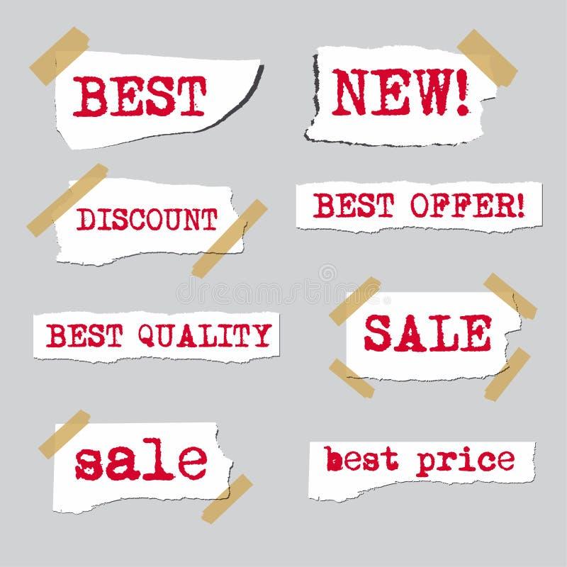 Promotion sale labels stock illustration