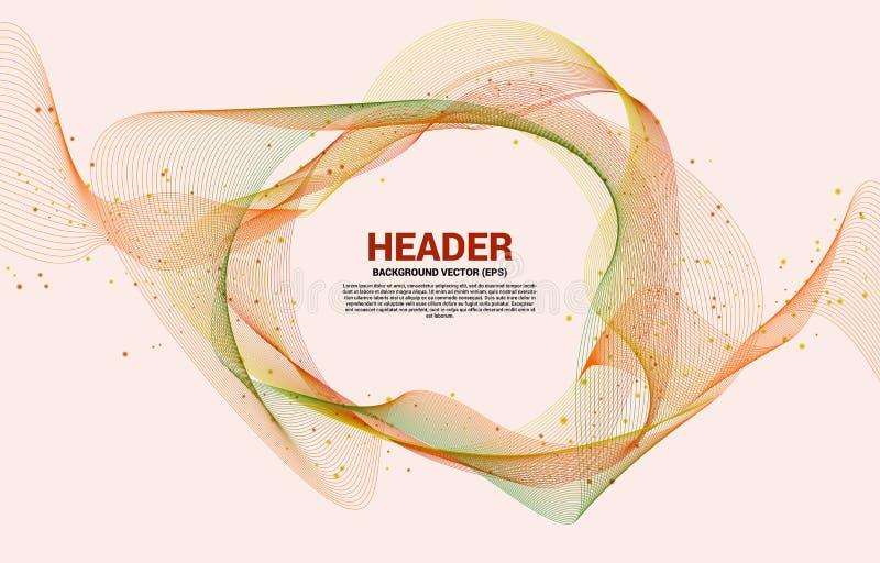 Promotion Vente modèle d'affichage ligne d'onde et style graphique de particules Conception futuriste des bannières pour les oeuv illustration stock