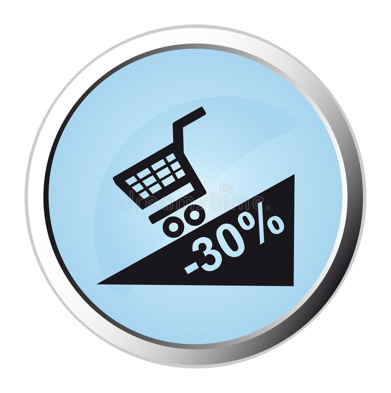 Promotion web button. Computer generated image royalty free illustration