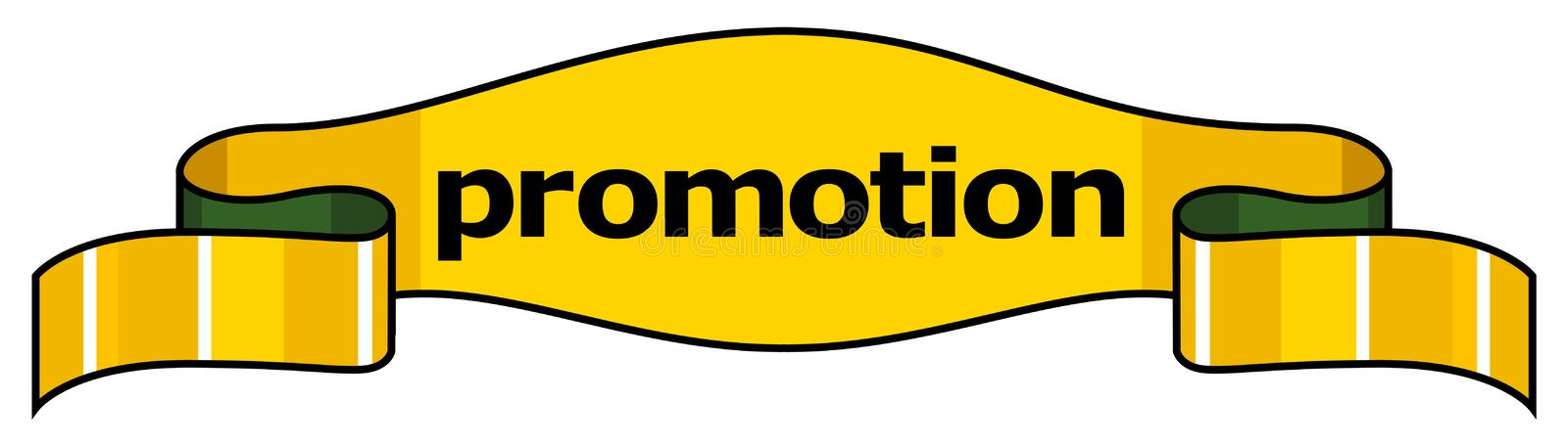Download Promotion Yellow Title Ribbon Stock Illustration - Image: 2901387