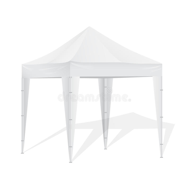 Promotional Advertising Outdoor Event Trade Show Pop-Up Tent Mobile Advertising Marquee. vector illustration