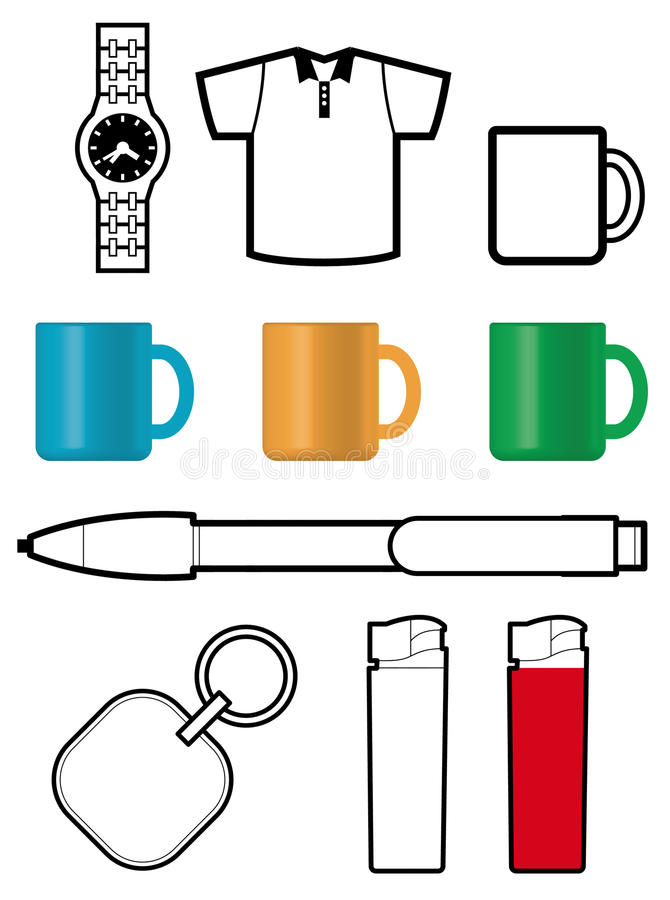 Download Promotional gift templates stock vector. Illustration of market - 18401962