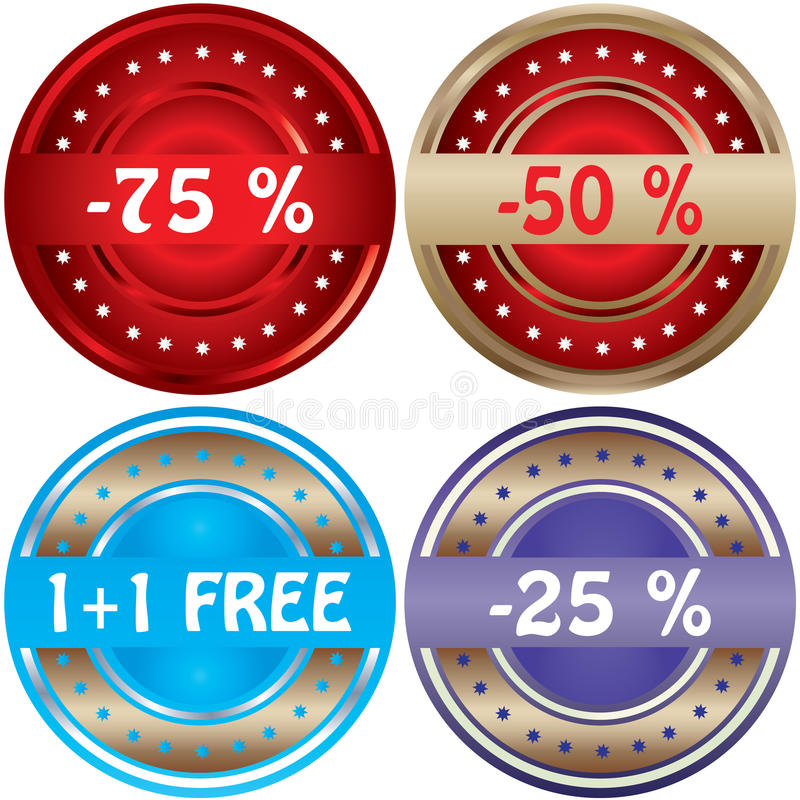Download Promotional labels stock vector. Illustration of isolated - 18166252