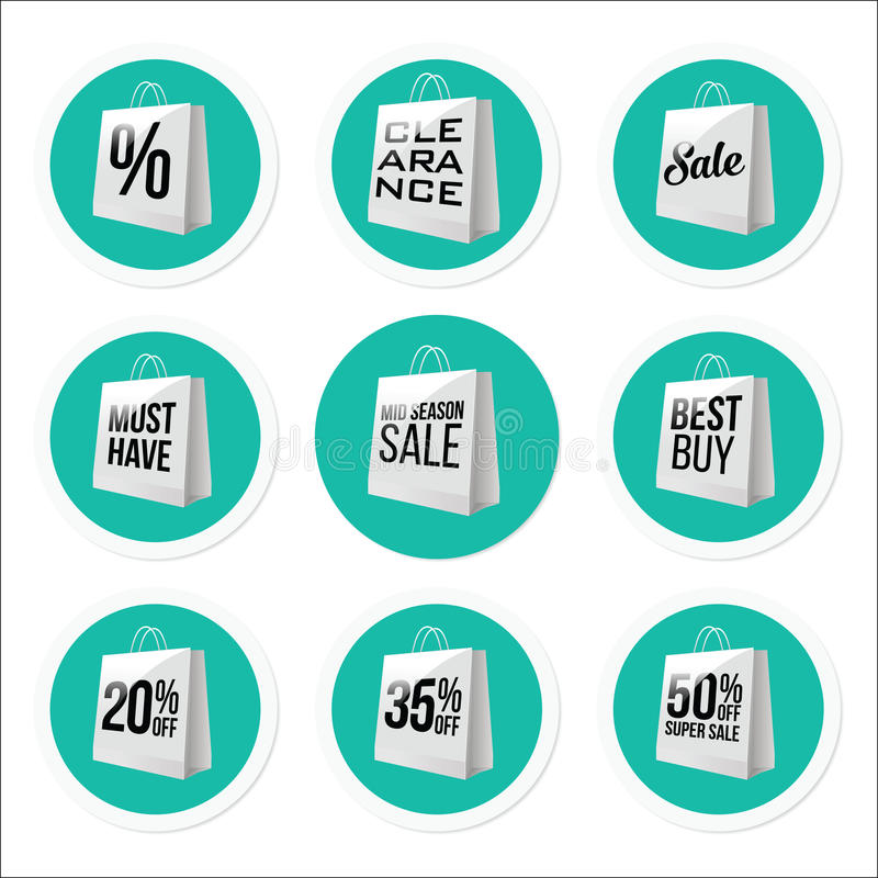 Promotional Sale Stickers Collection. Vector vector illustration