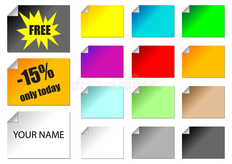 Download Promotional stickers stock vector. Illustration of name - 1885424