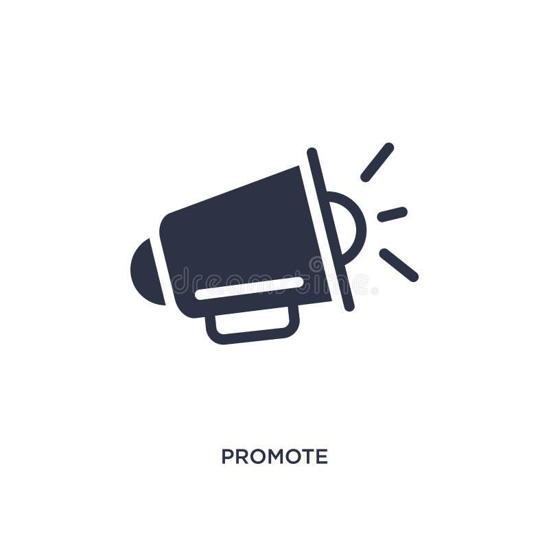 promova o ícone no fundo branco Ilustração simples do elemento do conceito de mercado ilustração do vetor
